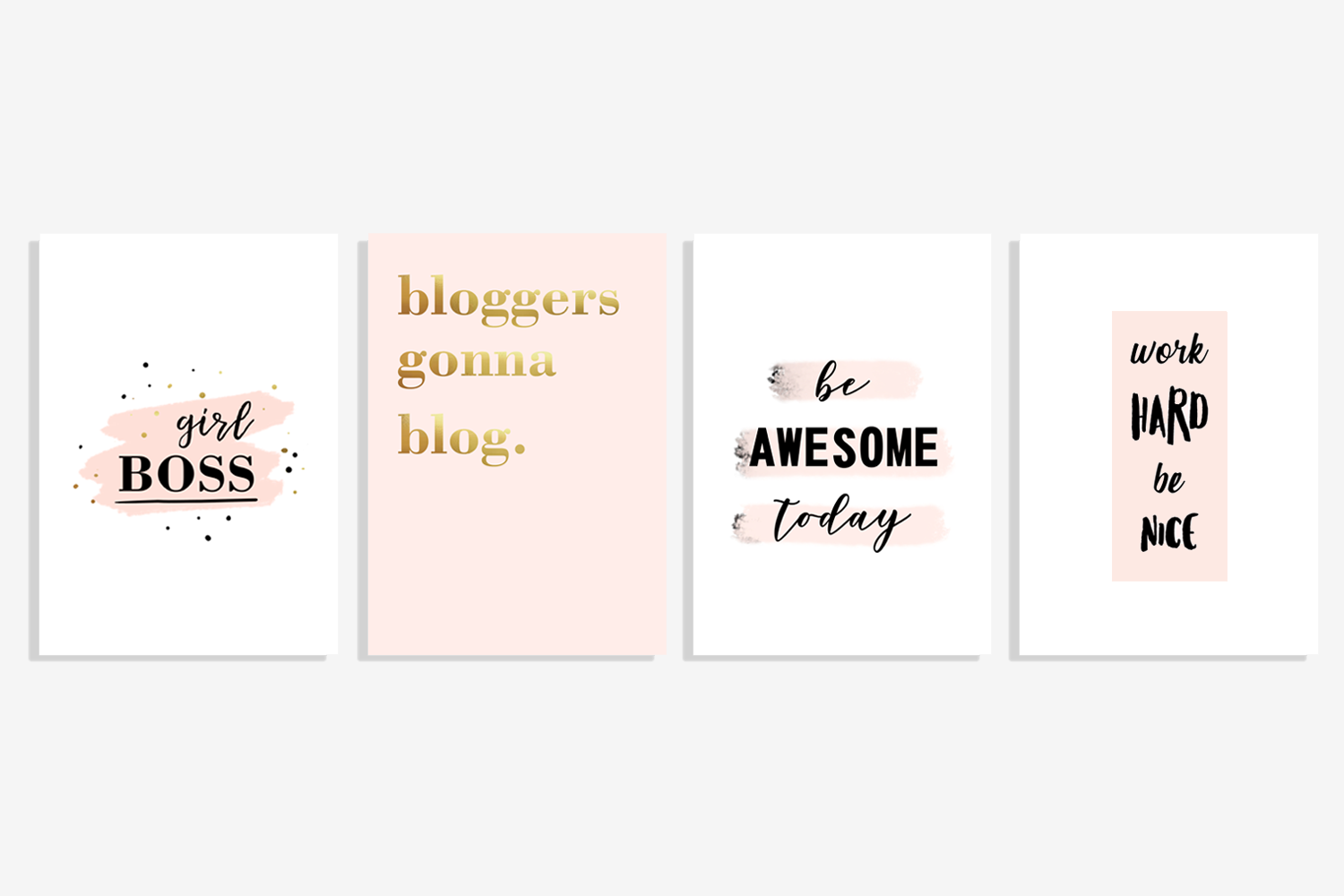 Free posters for home office - motivational and for bloggers