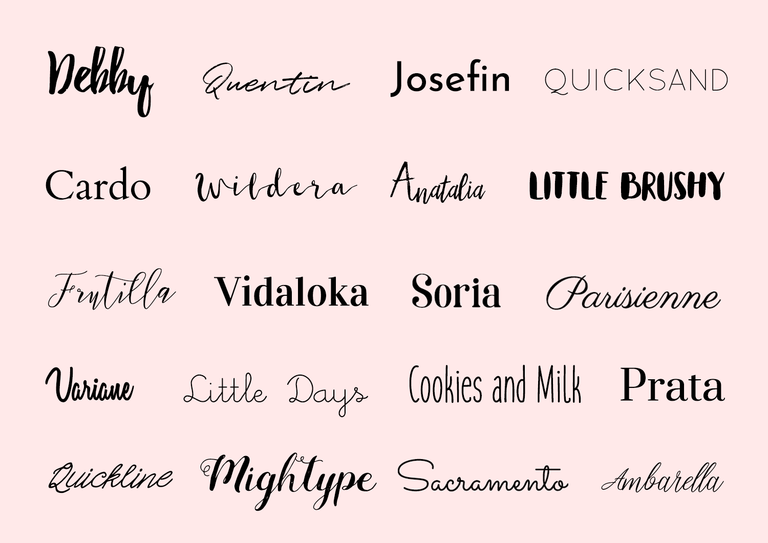 20 charming fonts free for commercial and personal use